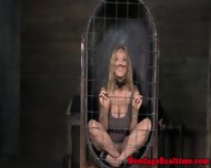 Pathetic Sub Chained Back In Her Cage - scene 6