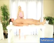 Busty Masseuse Handjobs Her Clients Cock To Make It Cum - scene 3
