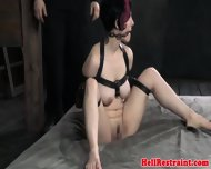 Breastbondage Sub Slut Gagged And Fingered - scene 10