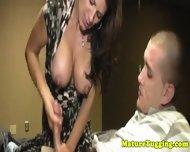 Handjob Loving Milf Tugging Stepson - scene 10