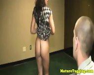 Handjob Loving Milf Tugging Stepson - scene 2