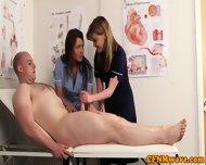Cfnm Nurse Nadia Elainas Patient Cums - scene 8