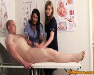 Cfnm Nurse Nadia Elainas Patient Cums - scene 9