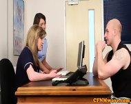 Cfnm Nurse Nadia Elainas Patient Cums - scene 2