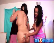 Bisex Ebony Chicks Fucking Black Guy - scene 1