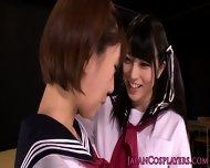 Cosplay Saki Miyanaga Goes Lesbian