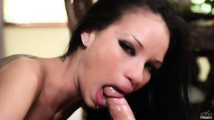 Beautiful Brunette Sucks Hard Penis - scene 9