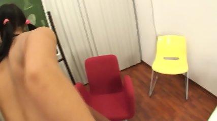 Cock Sucking Schoolgirl With Dick In Ass - scene 4