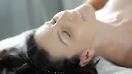 Tattooed Babe Banged Gently On Massage Table - scene 8