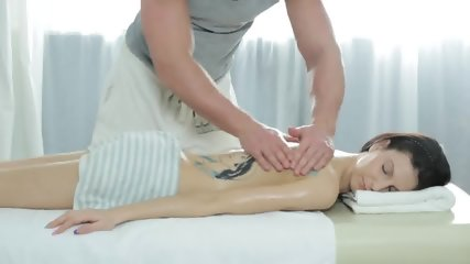 Tattooed Babe Banged Gently On Massage Table - scene 2