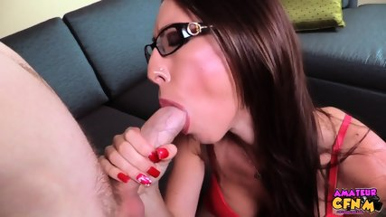 Lady With Glasses Sucks Dick - scene 12