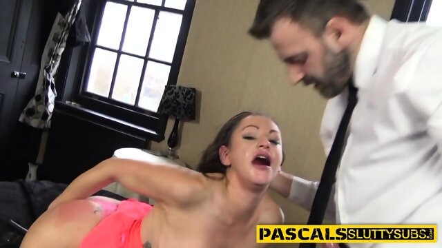 Bdsm slut gets whipped and fucked