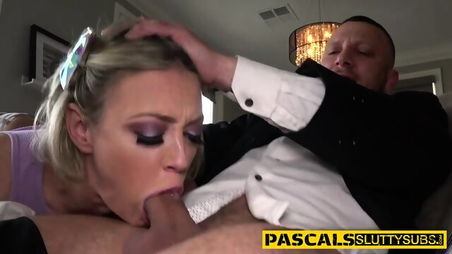 Busty bdsm whore gagging wam on dick