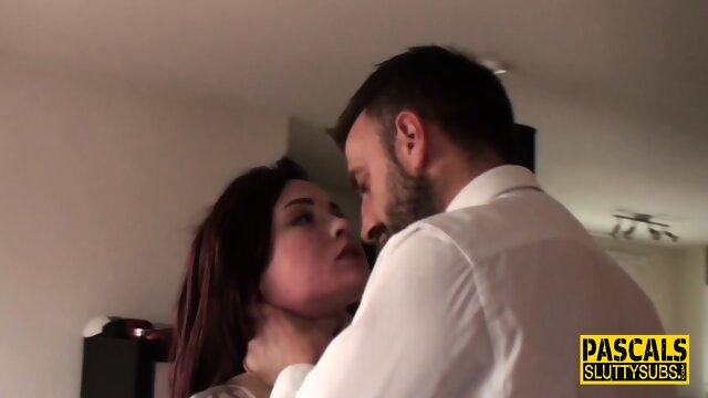 Teen dominated for sucking and throating