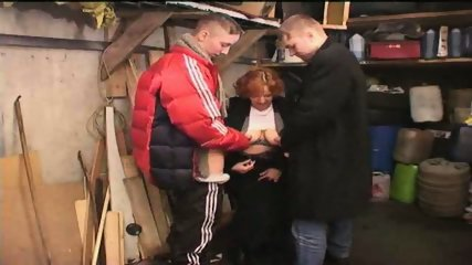 Russian Gang Boys sucked by old Slut - scene 1