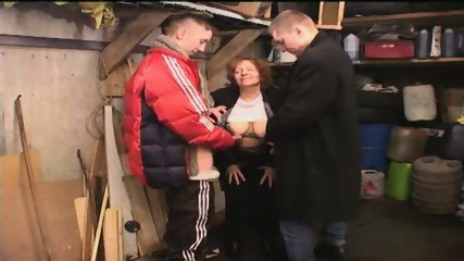Russian Gang Boys sucked by old Slut - scene 3