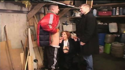 Russian Gang Boys sucked by old Slut - scene 5
