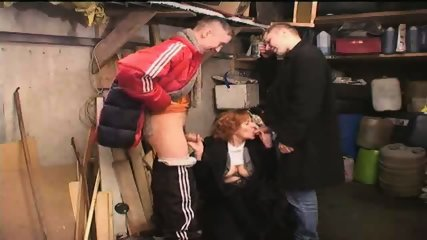 Russian Gang Boys sucked by old Slut - scene 7