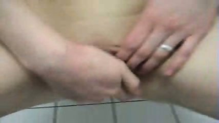 German Amateurs have Sex in Toilet - scene 8