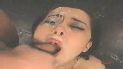 Girl gets five Facials - scene 11