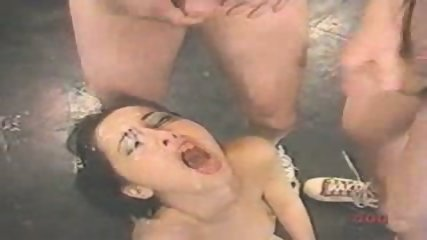 Girl gets five Facials - scene 4