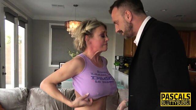 Milf in dominating threeway gets anal