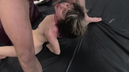 Double Penetration Of Teen In Bondage - scene 9
