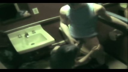 Couple caught fucking in public Bathroom - scene 10