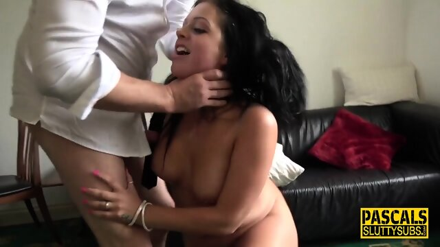 Chubby submissive ass paddled and spanked