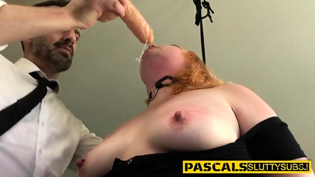 Real bdsm whore throating and riding
