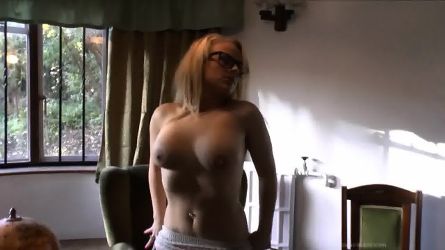 Blonde With Glasses And Nice Tits