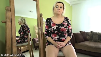 Mature Blonde Shows Her Big Boobs - scene 4