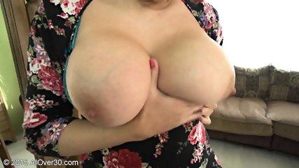 Mature Blonde Shows Her Big Boobs - scene 6