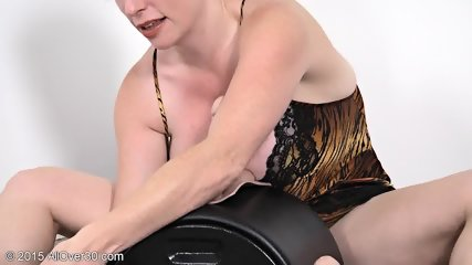 Mature Redhead Plays With Toys - scene 1