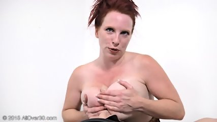 Mature Redhead Plays With Toys - scene 6