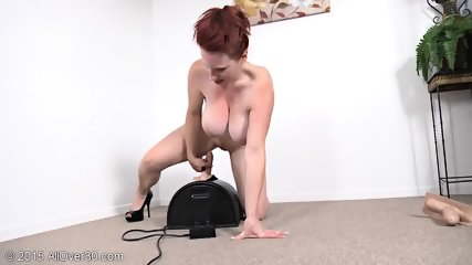 Mature Redhead Plays With Toys - scene 7