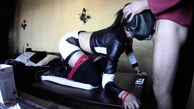 Laura On Heels model 2021 bound on a table and roughly fucked and throated