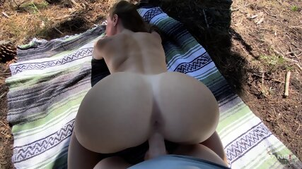 Molly Pills Gets A Creampie In The Woods