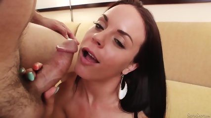Lovely Brunette With Cum On Tits - scene 9