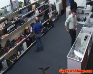 Gay Bear Pawnbrokers Facialize Straight Thief - scene 1