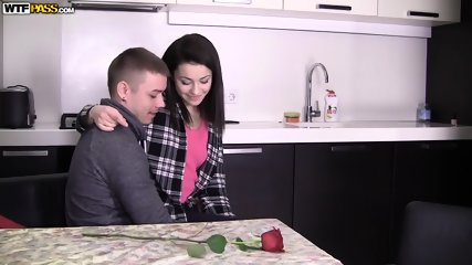 Couple In Action In The Kitchen - scene 2