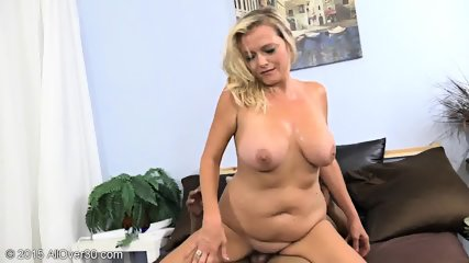 Mature Blonde Tries Black Dick - scene 8