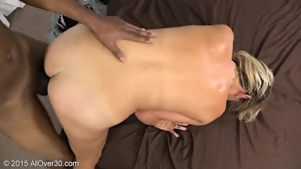 Mature Blonde Tries Black Dick - scene 12