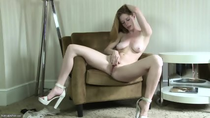 Charming Blonde Girl In Solo Action