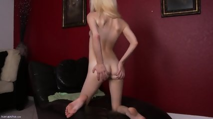 Sweet Blonde Takes Off Clothes And Plays With Pussy - scene 5