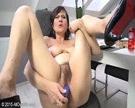 Horny Mature Lady Shows Her Body