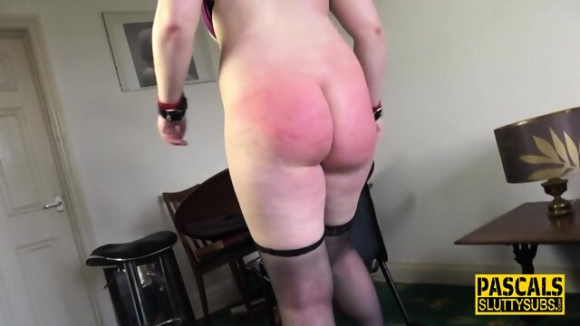 Big ass whipped submissive gets fucked