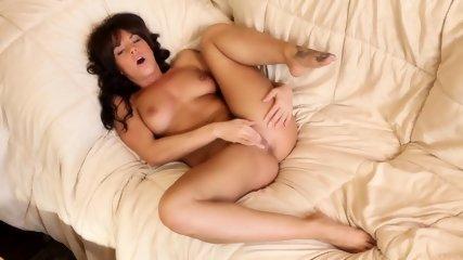 Lovely Brunette Uses Fingers - scene 9