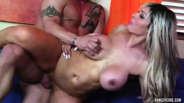Round Blonde MILF With Cum On Tits