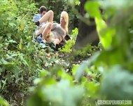 Blonde Nympho Rides Stranger In The Park - scene 8